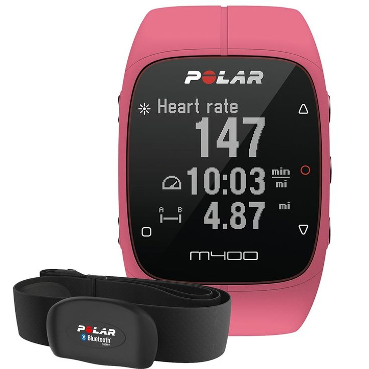 Montre GPS Polar M400 Rose avec Cardio