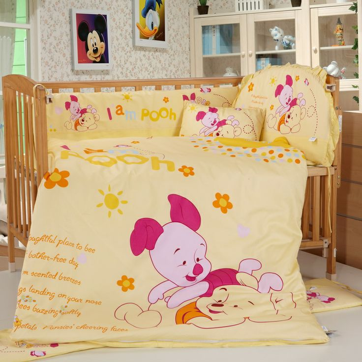 Winnie The Pooh Yellow Disney Crib Bedding Sets Disney Baby Bedding Sets