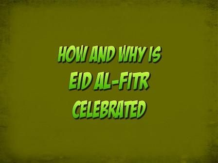 How and why is Eid al-Fitr celebrated The way Diwali is significant for Hindus, similarly Eid has its importance for Muslims. Eid is celebrated in Islam with the same fervor and joy as the festival of lights Diwali is celebrated in Hinduism. Eid occurs twice a year.…