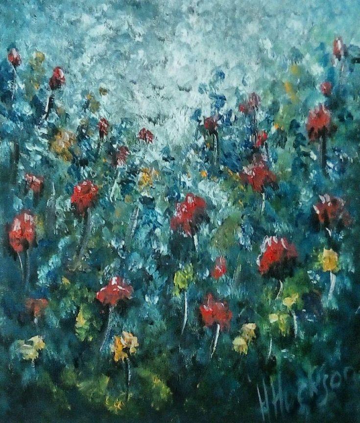 "'Wild Garden' Original Oil Painting 12"" x 10"""