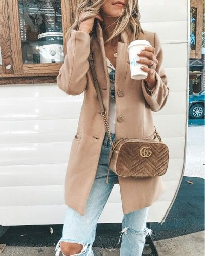 Blazer coat, fall outfit, leopard mules // velvet gucci