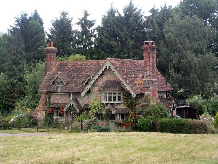 English Brick Country Cottage Near Dorking Surrey England