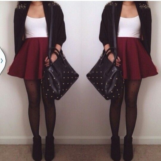 Red skater skirt outfits skater skirts winter skirts outfits red