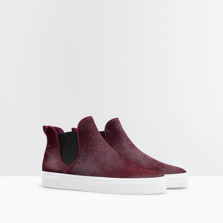 Image 2 of FUR AND LEATHER ANKLE BOOT from Zara