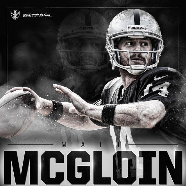 The Nation is behind you, @mjmqb11. #MattMcGloin #Raiders #OaklandRaiders #SilverAndBlack #BlackAndSilver #RaiderNation #CommitmentToExcellence #JustWinBaby #GoRaiders #RNFL #RFL #RN4L #R4L #ReturnToGreatness