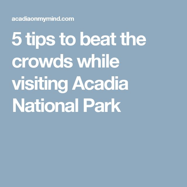 5 tips to beat the crowds while visiting Acadia National Park