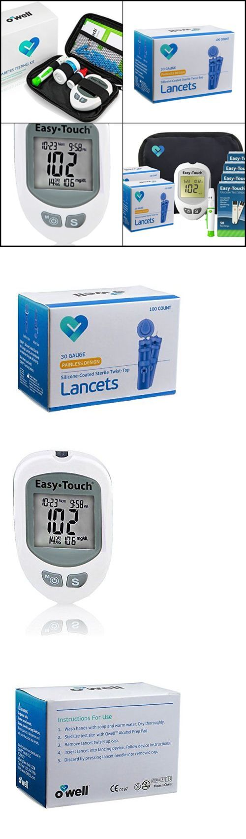 Glucose Monitors: Easy Touch Blood Glucose Monitor Diabetes Sugar Meter Tester Kit 200 Test Strips -> BUY IT NOW ONLY: $74.99 on eBay!