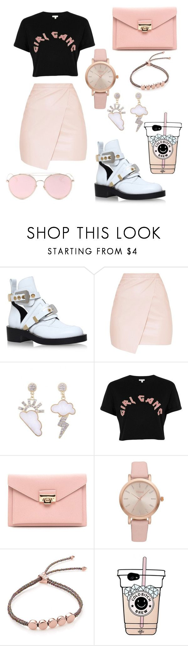 """""""Girls band"""" by fiona-aless ❤ liked on Polyvore featuring Balenciaga, River Island, Vivani, Monica Vinader and LMNT"""