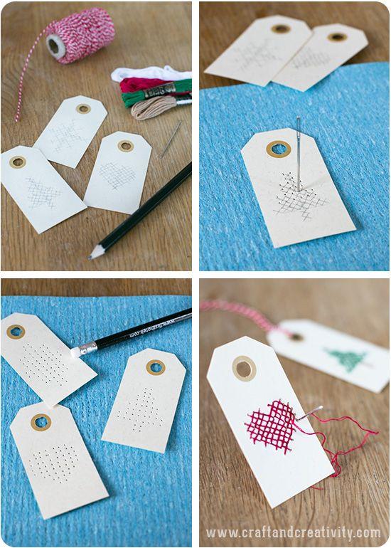 Selbstgemachte kleine Geschenkeanhänger - nicht nur für die Weihnachtsgeschenke eine tolle DIY Idee. So einfach gehts.