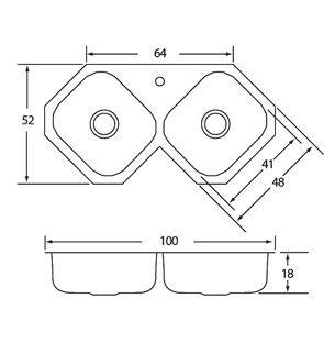 M s de 25 ideas fant sticas sobre fregaderos de cocina de - Dimensiones fregadero ...
