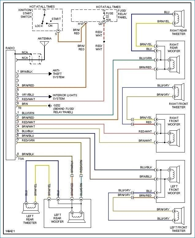 vw golf radio wiring diagram optional photos 99 jetta