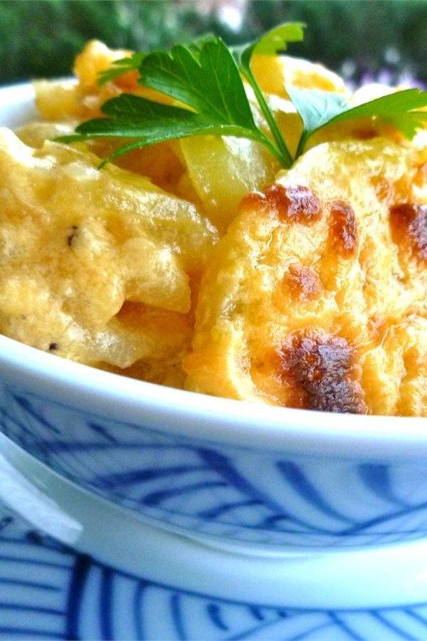 Creamy Au Gratin Potatoes Recipe Pork Tenderloin Side Dishes Pork Loin Side Dishes Gratin Recipe