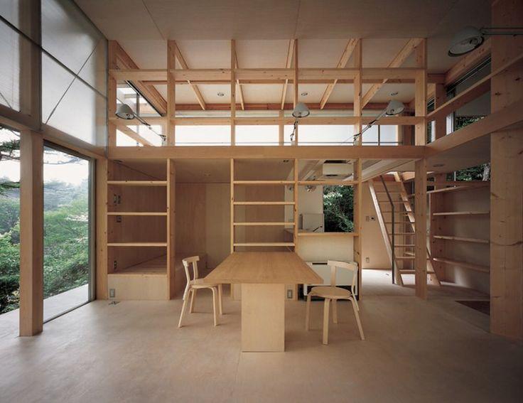 Hut T Weekend House on Lake Yamanaka by Kazunari Sakamoto - Homeli. Japan  ArchitectureArchitecture InteriorsWood ...