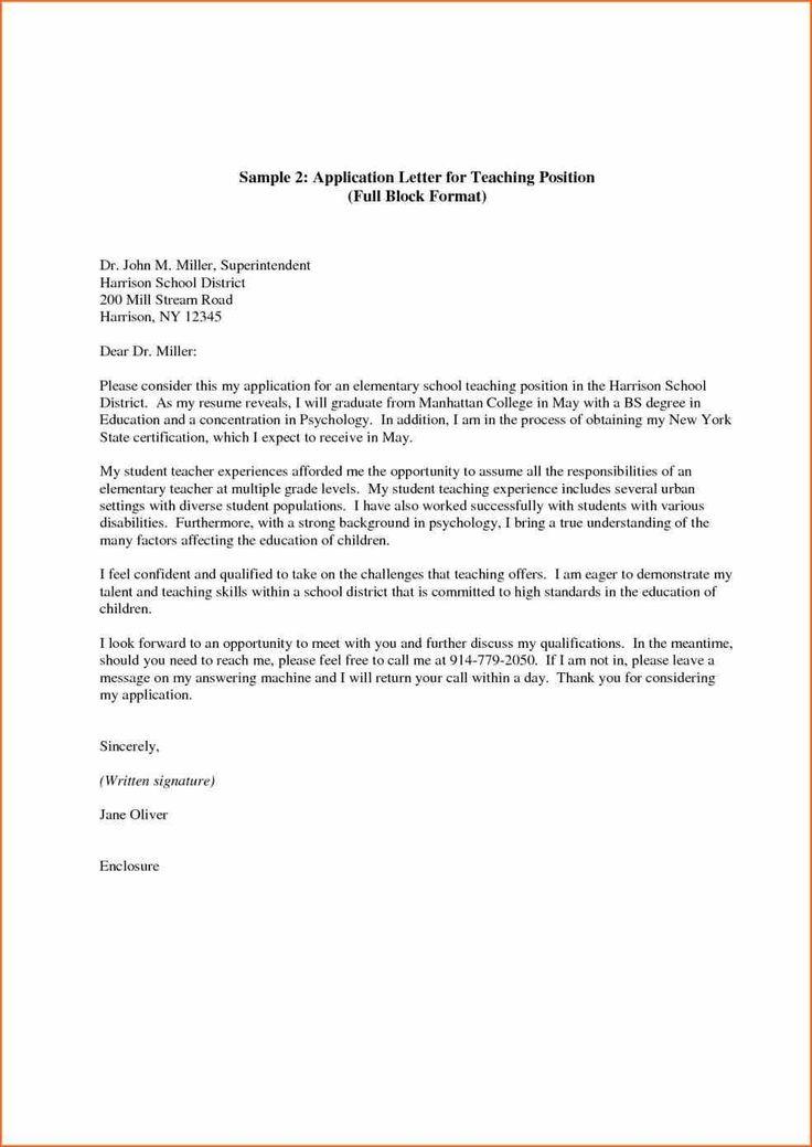 best 20  application letter for teacher ideas on pinterest