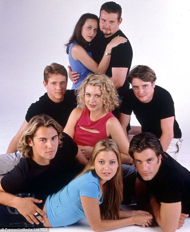 Blast from the past: A photo of cast of Neighbours from the archives, including Holly Vala...