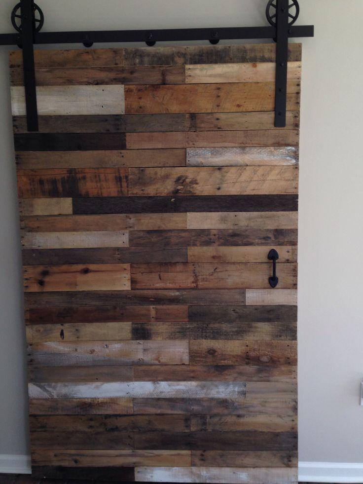 Pallet Barn Door Naturally Distressed Handcrafted