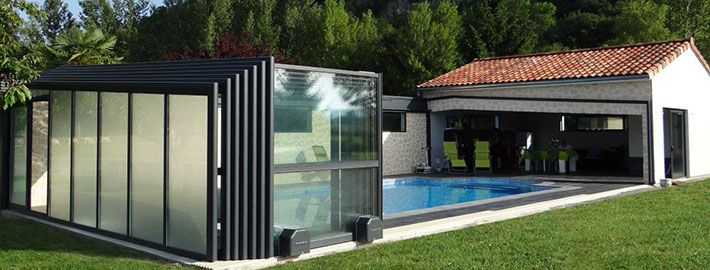 22 best Piscine couverte images on Pinterest Covered pool - devis construction maison en ligne
