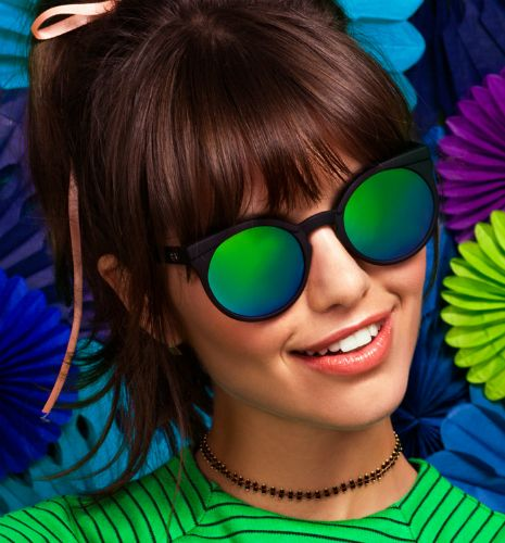 Quay Eyewear Australia - Quay Eyewear Kosha Black Green Mirror - House of Zoi