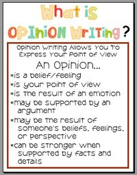 25+ best Opinion Writing ideas on Pinterest | Opinion writing ...