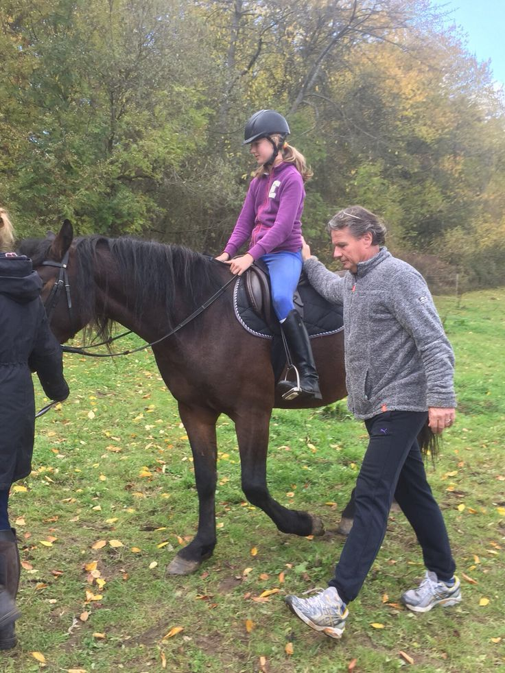 First time for everything!! NoDoubt's first time with saddle and Julie riding #proud #October #2015 #proud # love #horse #NoDoubt #vanHaflonie