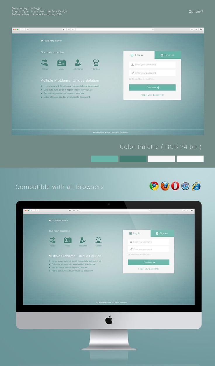 Login User Interface Design Options on Behance