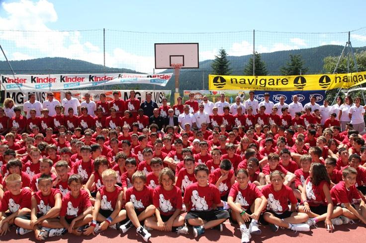 I ragazzi del campo estivo di basket di Folgaria!