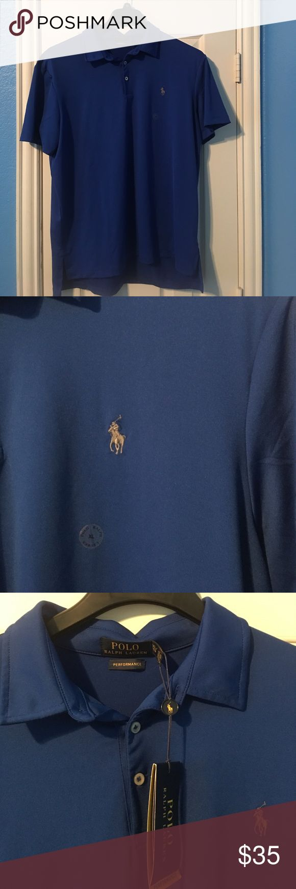NWT Dark Blue Performance Pony Polo BRAND NEW WITH TAGS! Selling this XL Performance line Polo. Super thin Moisture wicking, breathable fabric perfect for a hot day on the golf course. Contains 92% polyester and 8% elastase for a little extra stretch. Shoot me an offer! Polo by Ralph Lauren Shirts Polos