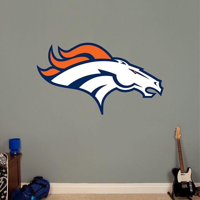 Denver broncos logo football bedroom logo real and for Denver broncos bedroom ideas