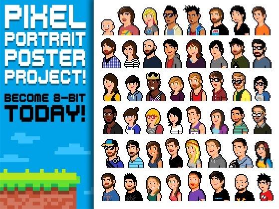 Pixel Portrait Poster Project! by Dreweyes, via Kickstarter.