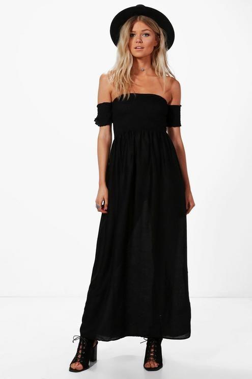 87029b1cfed11 Image result for Petite Bryony Off The Shoulder Shirred Dress ...