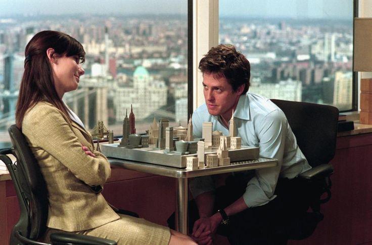 TWO WEEKS NOTICE, Sandra Bullock, Hugh Grant, 2002  | Essential Film Stars, Hugh Grant http://gay-themed-films.com/film-stars-hugh-grant/