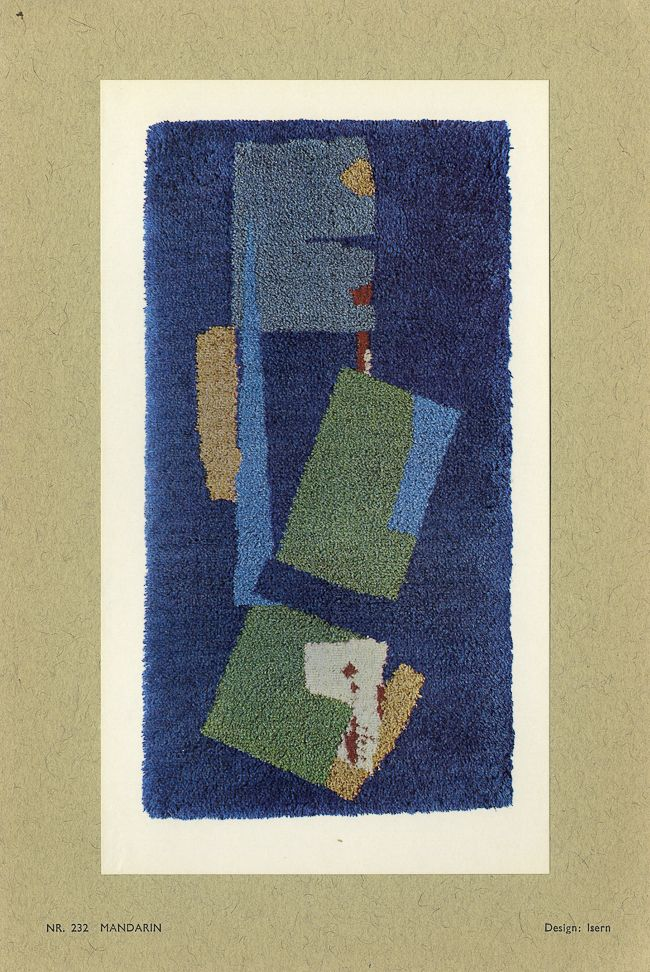 Rya rugs - 15 designs from 1964, plus a great video on the history of rya  rugs and how to make them