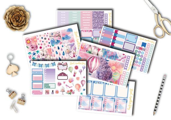 Chasing Dreams Planner Stickers Set and Kit EC by KnotAnotherDay