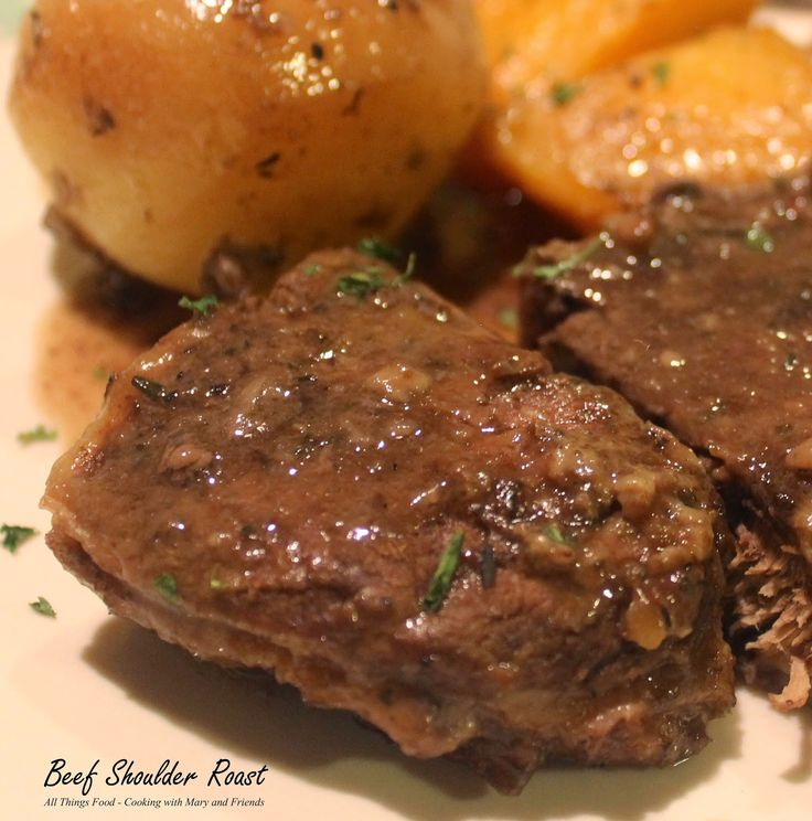 A beef-shoulder roast is an inexpensive roast cut from the muscled shoulder area of the beef. The tough, slightly chewy shoulder roast...