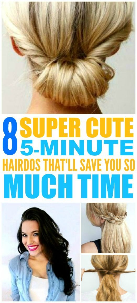 These super easy and cute 5-minute hairstyles are THE BEST! I'm so happy I found these AMAZING 5-minute hairdos. Now I have some awesome ways to do my hair on busy mornings! Definitely pinning!