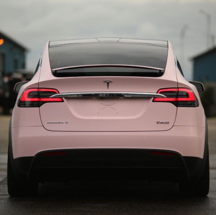 Verity, The Bubblegum Pink Tesla Model X  http://luxurytrump.com/luxury-sports-cars/verity-bubblegum-pink-tesla-model-x/