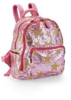 ba667a5e4b Bari Lynn Pink Star Glitter Backpack  handle Top Adjustable ...