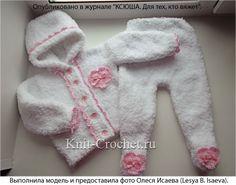 Ползунки и курточка (для ребенка 3-6 месяцев), вязаные на спицах.
