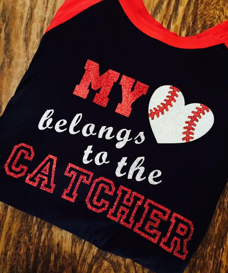 Baseball Alley Designs - My Heart Belongs To The Catcher Baseball Mom Girlfriend Tee, $30.00 (http://baseballalley.net/my-heart-belongs-to-the-catcher-baseball-mom-girlfriend-tee/)