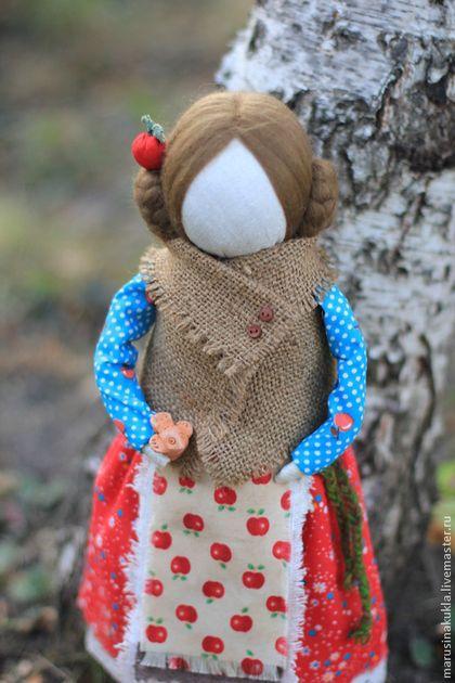 """Народные куклы ручной работы. Ярмарка Мастеров - ручная работа Кукла """"Яблочный Спас"""". На выставке до 16.09. Handmade."""