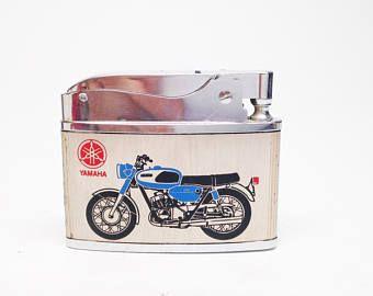 Feuerzeug - antike MOTORCYLE ungebrannten Moto Dinger Yamaha Motorrad / Sioux City Iowa 1960er Jahre japanische Feuerzeug