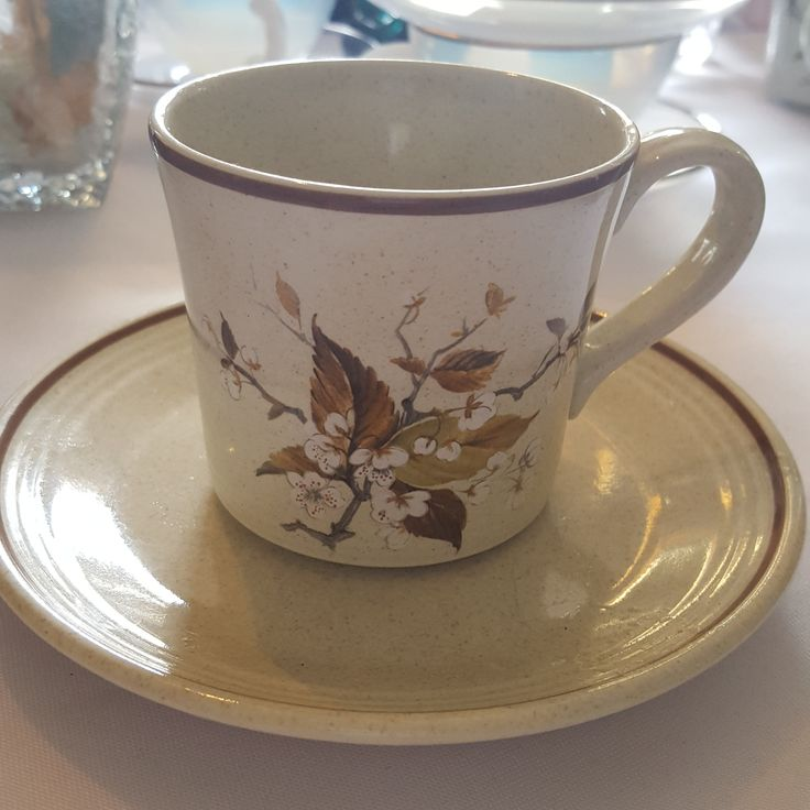 Royal Doulton Cherry Blossom Tea Cups and Saucers, Vintage 1979
