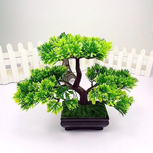 Artificial Japanese Zen Artificial Trees Bonsai Tree Home Planet with Pot. for a #PinkSky