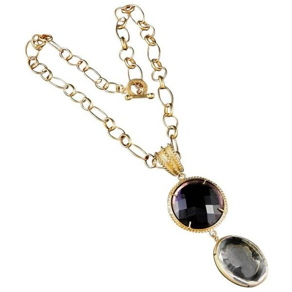 Preowned Bronze And Murano Glass Double Pendant With Chain ($391) ❤ liked on Polyvore featuring jewelry, pendants, beige, pendant necklaces, murano glass necklace pendants, pendant jewelry, chain jewelry, murano glass pendant necklace and pre owned jewelry