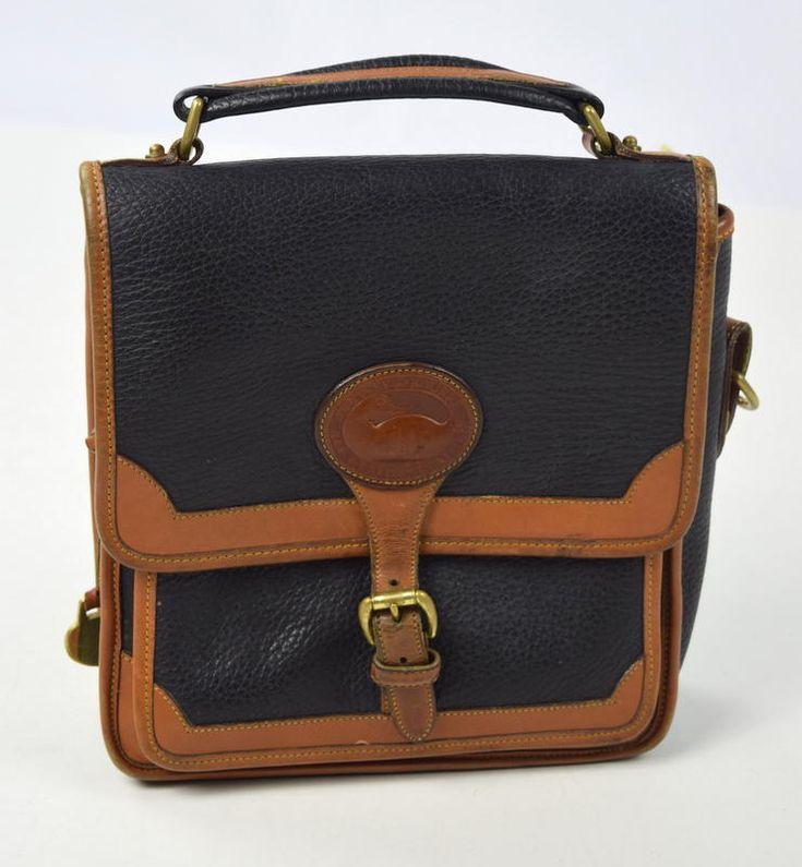 Vtg 90s DOONEY & BOURKE All Weather Leather Blue & Teal Purse Satchel Hand Bag  | eBay