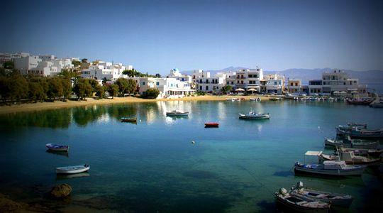 The picturesque port of Piso Livadi, Paros.