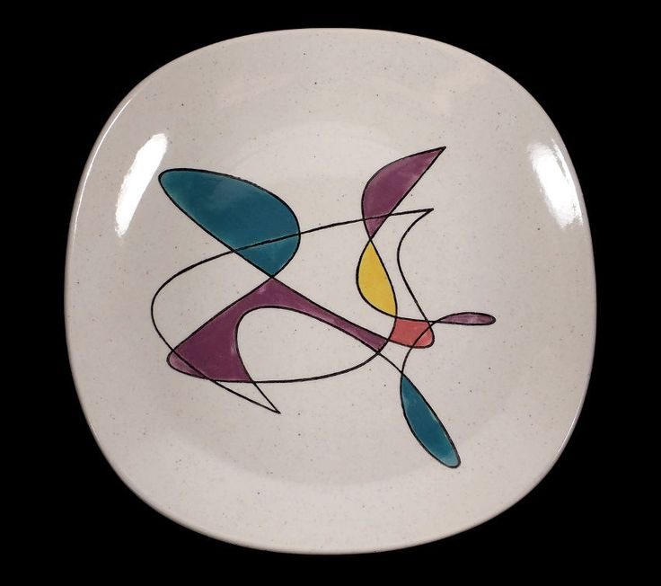 METLOX POTTERY CALIFORNIA MOBILE SERVING PLATTER CHARGER PLATE MIDCENTURY MODERN