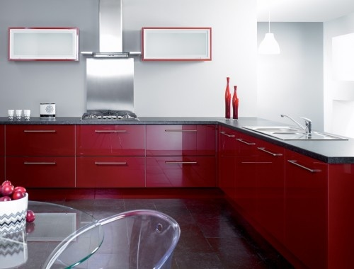 Trend Kitchens - Gloss Burgundy