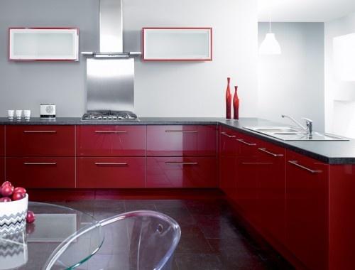 Trend Kitchens - Gloss Burgundy