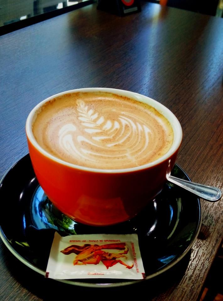 Latte art by profession barista Nikos Kollias